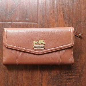 New Coach Tan Leather Wallet with Check Book